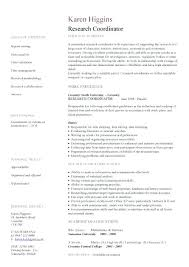 Clinical Research Coordinator Resume Sample Research Assistant Resume Research Assistant Sample