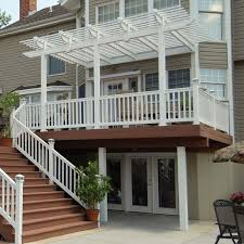 large deck with attached pergola archadeck outdoor living