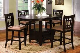 Espresso Kitchen Table by Round High Top Kitchen Tables Roselawnlutheran