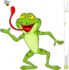 frog cartoon with fly stock photo image 29184970