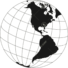 Map Of The World Black And White by 8274 Globe Clipart Black And White Globe Clipart Black And White