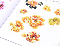Flowers In A Book - chinese painting book to learn the essential techniques