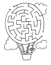 maze coloring page inside kids mazes mouse and the apple