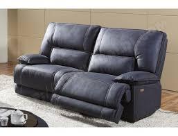 canap relaxation 3 places canapé tissu ub design eros 3 places 2 relax électriques bleu pas