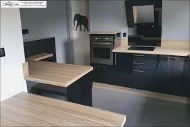 cuisine plan de travail bois cuisine noir plan de travail bois hostelo
