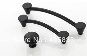 10pcs 96mm matte black pulls classical knobs drawer handles top