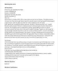 sales intern job description sample 9 examples in pdf