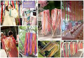 wedding decoration idea u0026 theme ribbons