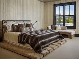 Rustic Platform Bed Impressive Faux Fur Throws In Bedroom Rustic With Rustic Glam Next