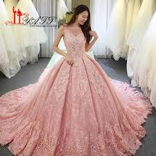 pink wedding dress 2018 new pink wedding dresses sheer v neck sleeveless lace