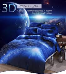 Electric Blue Duvet Cover Honana Wx 8868 3 4pcs Galaxy 3d Bedding Sets Universe Outer Space