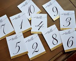 Wedding Table Cards Wedding Table Numbers Etsy
