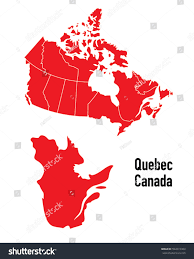 Map Of Quebec Map Quebec Canada Stock Vector 592019384 Shutterstock