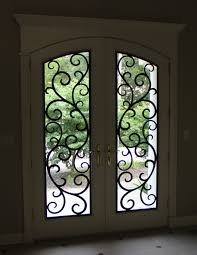 front doors for homes with glass beautiful front door with faux wrought iron door insert simply