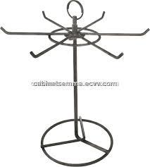 6 prongs rotating wire ornament display stand counter top