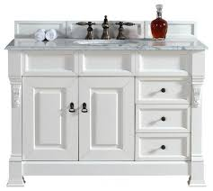 Vanity Cabinet Drawers Cottage White Traditional - 48 white bathroom vanity cabinet