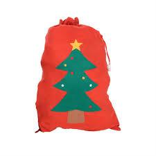 large red felt christmas gift bag santa present sacks u2013 the
