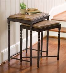 pottery barn nesting tables artistic set of nesting tables in metal wood plow hearth small
