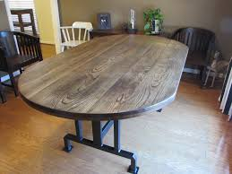 Kitchen Island Legs Meta Custom Handmade Rustic Oblong Dining Table Just Fine Tables