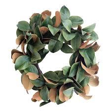 faux magnolia wreath mcgee co