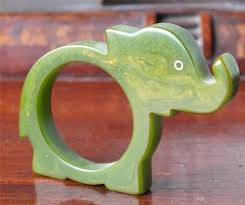 art deco elephant ring holder images Art deco bakelite green elephant napkin ring plastic please jpg