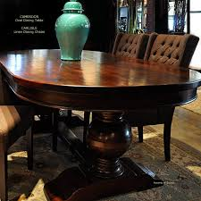 Oval Wooden Dining Table Designs Furniture Oval Dining Table Made From Laminate Wood Also Tufted