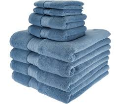 Bathroom Towel Sets by Northern Nights 8 Piece Luxury 100 Cotton Generous Size Bath