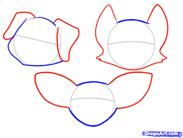 how to draw a dog face step by step for kids