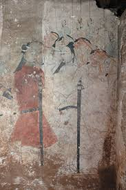 the history blog blog archive 1500 year old chinese tomb the murals begin on the walls