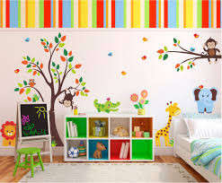 Kids Room Decoration Vinilo Decorativo Infantil Animales De La Selva Cuarto Niñod