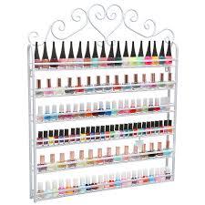 amazon com mygift metal nail polish mountable 6 tier organizer