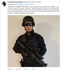 Ranger School Meme - this gun toting guy said he would protect kids at school for free