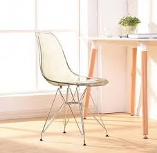 Clear Acrylic Dining Chair Shop Transparent Clear Acrylic Dining Side Chair Plastic