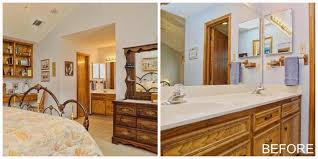 before and after master bathroom jesse coulter