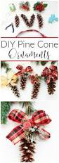 diy pine cone ornaments pine cone pine and christmas tree