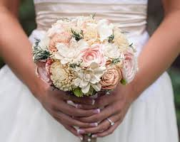 Shabby Chic Bridal Bouquet by Bridal Bouquet Etsy