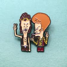 Beavis And Butthead Halloween by Hippie Beavis And Butthead Enamel Heady Festival Hat And Lapel