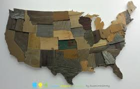 Usa Map State by Contiguous Usa Map Reclaimed Wood Wall Art State Art United States