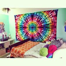 Bedroom Ideas With Tapestry Hand Made Tie Dye Tapestry From Allie Carjack Love Pinterest