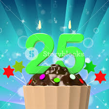twenty five candle on cupcake meaning birth anniversary or
