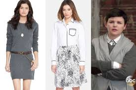 ginnifer goodwin u0027s gray sweater dress and white button down with