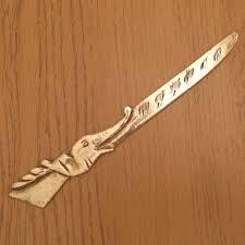 fleur de lis letter opener brass envelope knife paper knife letter opener solid brass