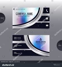 business card template modern abstract design stock vector