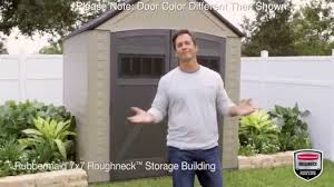 Rubbermaid Roughneck Gable Storage Shed Accessories by Rubbermaid Roughneck Xl 7 U0027x7 U0027 Outdoor Storage Shed 5h80 Youtube