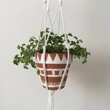 diy macrame hanging planter at mine