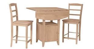 Unfinished Bistro Table Parawood Dropleaf Bistro Table Natural Unfinished Furniture