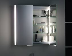 Interesting Bathroom Cabinets With Lights Design Cabinet Light And - Bathroom cabinet mirrored 2