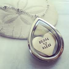 Couple Name Necklace Custom Name Locket Personalized Locket Necklace Heart