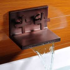 Waterfall Tub Faucet Kes 2 Handle Wall Mount Bathroom Faucet Waterfall Bath Tub Faucet