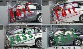 toyota prius v safety rating iihs honda and subaru come out as safest cars in crash test